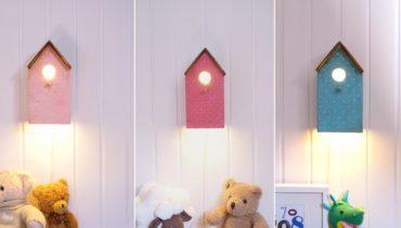 Preciosas lámparas con forma de casita de pájaro