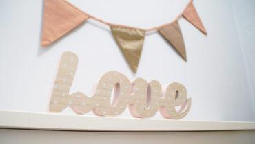 Ideas para sacar partido a las letras decorativas
