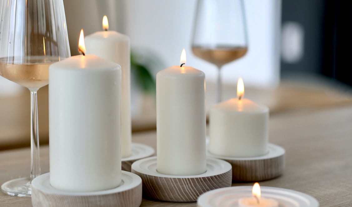 Beneficios de decorar con velas